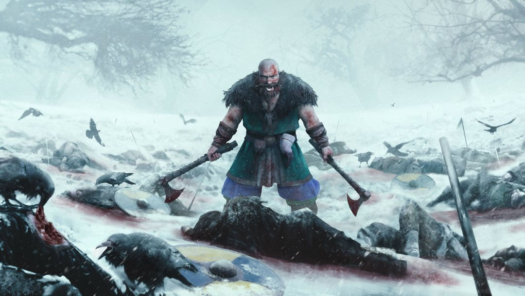 Axe,dead,ice,angry,powerful,strong,death,snow,blood,blade,sword,Expeditions Viking,war,crow,viking