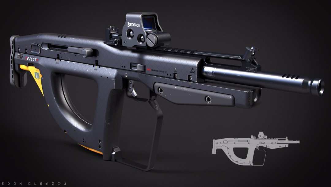 by drzoidberg96,bullpup,weapon,gun,rifle,concept