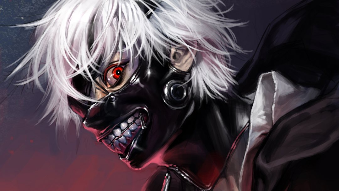 Red,eyes,kaneki,mask
