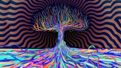 Abstract,Psychedelic,colors,tree