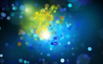 yellow,circles,blue,bokeh