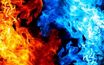 Red,blue,fire