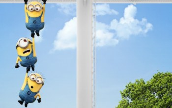 funny,minions,hanging