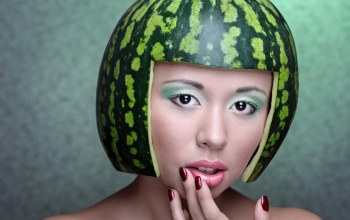 melon,funny,Hat,girl