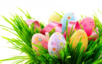 Декор,Holidays,разноцветные,colorful,Easter,яйца,лента,eggs,spring
