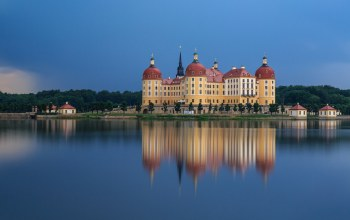 замок,Germany,architecture,архитектура,reflection,river,страны,country,германия
