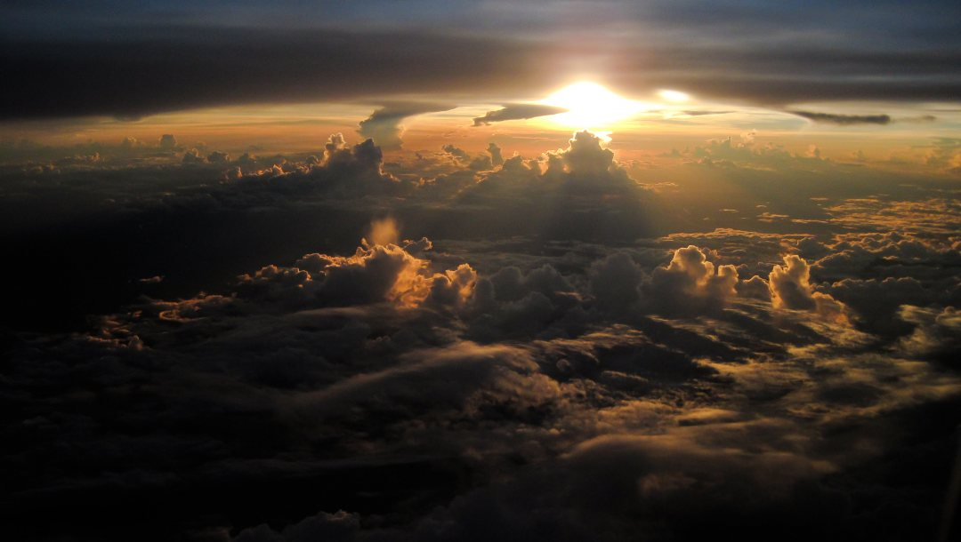 from,view,Sunset,clouds,over