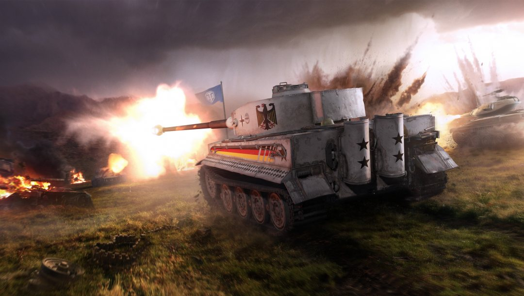 World of tanks,Т49,World of Tanks: Xbox One,пламя,дым,взрыв,wargaming net,World of Tanks: Xbox 360,выстрел,tiger i,wot,Облака,свет,мир танков,туман,PzKpfw VI Tiger,World of Tanks: PlayStation 4
