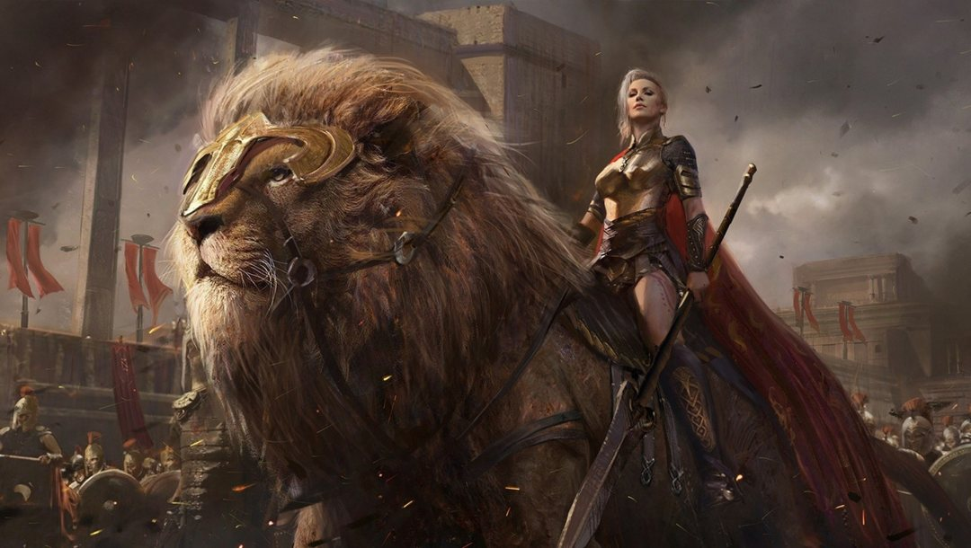 spears,swords,blades,sovereign,power,giant lion,weapons,conquerors,shield,army