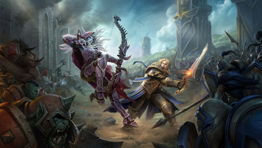 sylvanas windrunner,weapons,elf,battle,orcs,bow,fantasy,fantasy art,world of warcraft,game,artwork,battlefield,Anduin Wrynn,digital art,Magic,army,World of Warcraft: Battle for Azeroth,spears,helmet,armor,sword,soldiers,axes