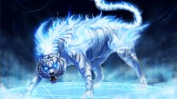 flames,ice,artwork,tigers