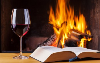 book,fire,vine