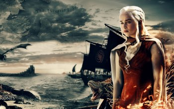 tv series,Game of thrones,dragon,a song of ice and fire,queen,map,daenerys targaryen,war,boat,Targaryen