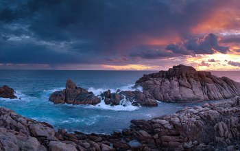 Sunset,time,rocks,Western,Australia