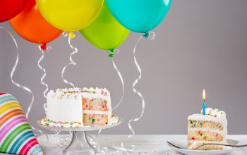 decoration,торт,colorful,happy birthday,cake,candles,воздушные шары,день рождения,ballones,celebration