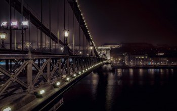 budapest,ночь,chain bridge