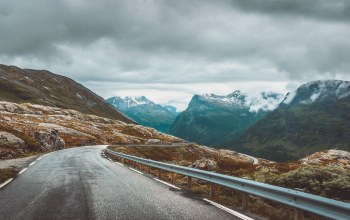 through,driving,Jotunheimen