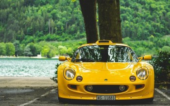 exige,lotus,yellow