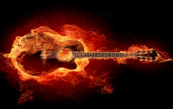 fire,flame,guitar