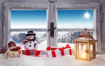 снеговик,decoration,lantern,украшения,winter,xmas,snow,Snowman,подарки,christmas,окно,Window,merry christmas,рождество