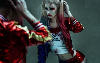 film,inmates,crazy,2016,suicide squad,blood,super villain,criminals,strong,power,the Joker girlfriend,harley quinn,sugoi,dc comics,arkham asylum,demented,movie,Super hero,yuusha,tatoo,cinema,anti-heroes,blonde,Mad,hero,makeup,cosplay,psychiatrist,villainess,green eyes