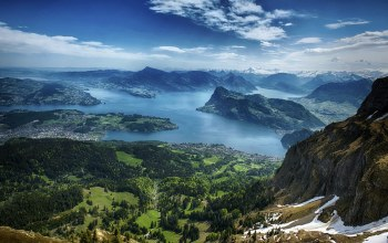 Aerial,view,lucerne