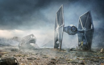 TIE fighter,Rebel Droids,r2-d2,c-3po,Lee Rouse