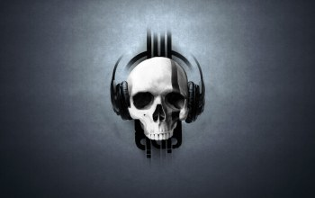 Skull,headphones