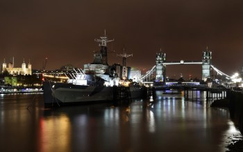 tower bridge,london,HMS Belfast,здание