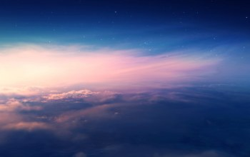 cold,space,stars,blue,clouds,Above