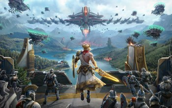 Anton Lavrushkin,армия,Фантастика,битва,Skyforge: PS4 Promotional materials