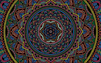 Color,Mandala,selective coloring,texture,colorful