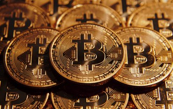 Crypto-currency,Gold,coin,Bitcoin