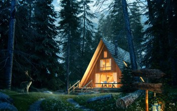 Олень,Lost in the forest,Forest House Jour Nuit