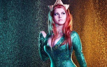 pretty,girl,tekai,redhead,Mera,Justice league,oppai,red hair,Red,Aquaman,big,cosplay