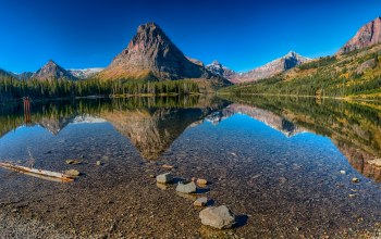 сша,Glacier national park,Medecine Lake,скалы,Вода