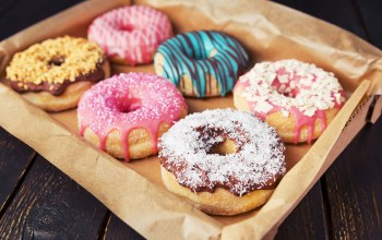 глазурь,Donuts,colorful,Пончики