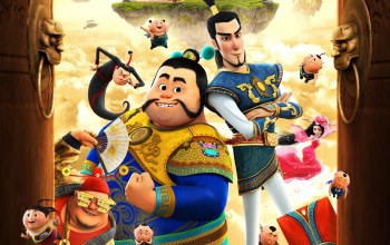 girl,Little Door Gods,asian,chinese,animated movie animated film,armor,asiatic,Xiao Men Shen,The Guardian Brothers