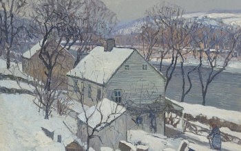 Ламбервилл,Пейзаж,Edward Willis Redfield,Эдвард Редфилд,картина