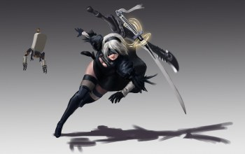 guardian,girl,robot,blade,sword,katana