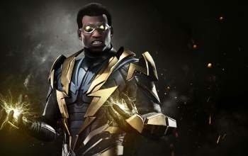 hero,dc comics,uniform,Super hero,dc,spark,suit,game,lightning,Black Lightning,Injustice 2
