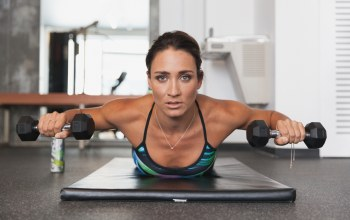 workout,pose,dumbbells,look