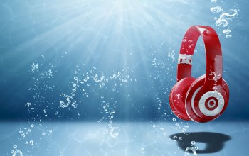 headphones,wallpaper.,абстракция,радиоволна,спектр,headphones water,музыка,свет,звук