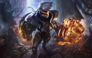splash,Вай,дождь,league of legends,трупы,костюм,осколки,Vi,artwork,кулаки,project,Лига Легенд
