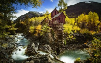 колорадо,скала,Кристал-Милл,colorado,Crystal mill,crystal river,Река Кристал,осень,водяная мельница,crystal