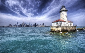chicago,Harbor Lighthouse