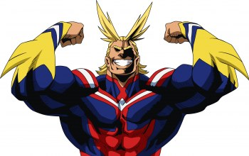 strong,uniform,Toshinori Yagi,All Might,Super hero,smile,yuusha,blonde,powerful,Boku no Hero Academia,manga,seifuku,hero,My Hero Academia,pose