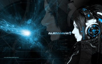 Skull,candy,headphones,girl,alienware
