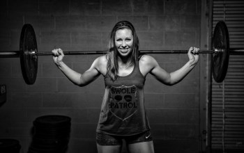 Weight bar,black and white,smile,weightlifter