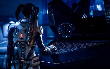 game,Mass Effect Andromeda,weapon,woman,suit,mass effect,gun